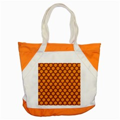 Pumpkin Face Mask Sinister Helloween Orange Accent Tote Bag by Alisyart