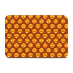 Pumpkin Face Mask Sinister Helloween Orange Plate Mats by Alisyart