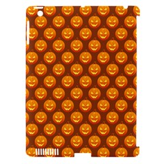 Pumpkin Face Mask Sinister Helloween Orange Apple Ipad 3/4 Hardshell Case (compatible With Smart Cover) by Alisyart