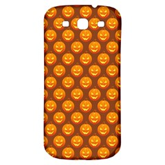 Pumpkin Face Mask Sinister Helloween Orange Samsung Galaxy S3 S Iii Classic Hardshell Back Case by Alisyart