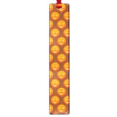 Pumpkin Face Mask Sinister Helloween Orange Large Book Marks by Alisyart