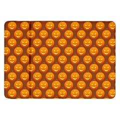 Pumpkin Face Mask Sinister Helloween Orange Samsung Galaxy Tab 8 9  P7300 Flip Case by Alisyart