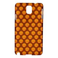Pumpkin Face Mask Sinister Helloween Orange Samsung Galaxy Note 3 N9005 Hardshell Case by Alisyart