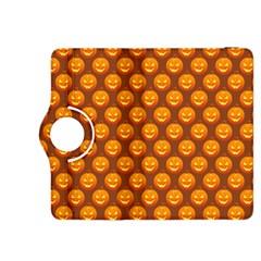 Pumpkin Face Mask Sinister Helloween Orange Kindle Fire Hdx 8 9  Flip 360 Case by Alisyart