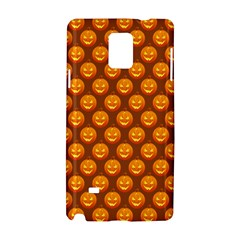 Pumpkin Face Mask Sinister Helloween Orange Samsung Galaxy Note 4 Hardshell Case by Alisyart