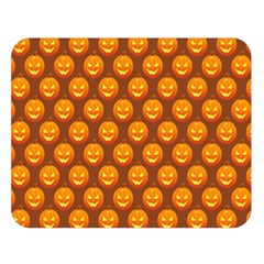 Pumpkin Face Mask Sinister Helloween Orange Double Sided Flano Blanket (large)  by Alisyart