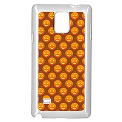 Pumpkin Face Mask Sinister Helloween Orange Samsung Galaxy Note 4 Case (white) by Alisyart