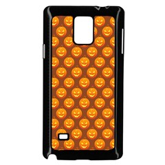 Pumpkin Face Mask Sinister Helloween Orange Samsung Galaxy Note 4 Case (black) by Alisyart