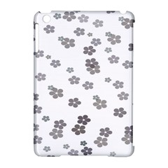 Flower Grey Jpeg Apple Ipad Mini Hardshell Case (compatible With Smart Cover) by Alisyart
