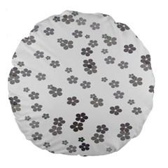 Flower Grey Jpeg Large 18  Premium Flano Round Cushions by Alisyart