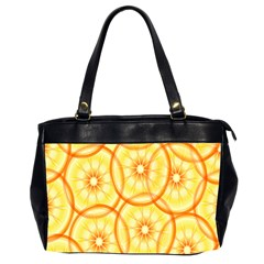 Lemons Orange Lime Circle Star Yellow Office Handbags (2 Sides)  by Alisyart