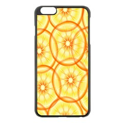Lemons Orange Lime Circle Star Yellow Apple Iphone 6 Plus/6s Plus Black Enamel Case by Alisyart