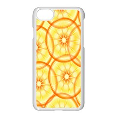 Lemons Orange Lime Circle Star Yellow Apple Iphone 7 Seamless Case (white) by Alisyart