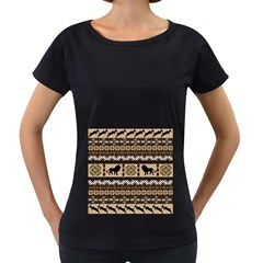 African Vector Patterns  Women s Loose Fit T Shirt (black) by Amaryn4rt