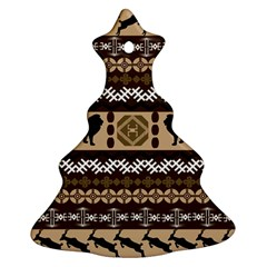 African Vector Patterns  Ornament (christmas Tree)  by Amaryn4rt
