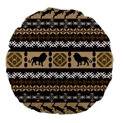 African Vector Patterns  Large 18  Premium Flano Round Cushions
