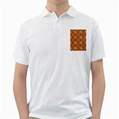 Vector Square Texture Pattern Golf Shirts by Amaryn4rt
