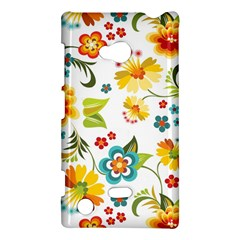Flower Floral Rose Sunflower Leaf Color Nokia Lumia 720 by Alisyart