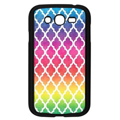 Colorful Rainbow Moroccan Pattern Samsung Galaxy Grand Duos I9082 Case (black) by Amaryn4rt