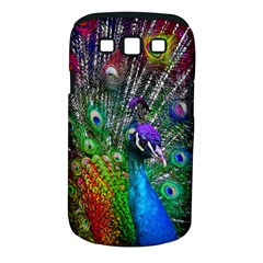3d Peacock Pattern Samsung Galaxy S Iii Classic Hardshell Case (pc+silicone) by Amaryn4rt