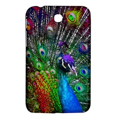 3d Peacock Pattern Samsung Galaxy Tab 3 (7 ) P3200 Hardshell Case  by Amaryn4rt