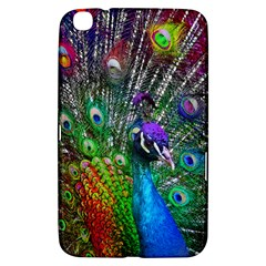 3d Peacock Pattern Samsung Galaxy Tab 3 (8 ) T3100 Hardshell Case  by Amaryn4rt