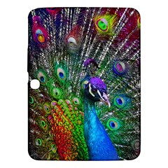 3d Peacock Pattern Samsung Galaxy Tab 3 (10 1 ) P5200 Hardshell Case  by Amaryn4rt