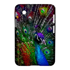 3d Peacock Pattern Samsung Galaxy Tab 2 (7 ) P3100 Hardshell Case  by Amaryn4rt