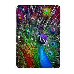 3d Peacock Pattern Samsung Galaxy Tab 2 (10 1 ) P5100 Hardshell Case  by Amaryn4rt
