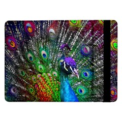 3d Peacock Pattern Samsung Galaxy Tab Pro 12 2  Flip Case by Amaryn4rt