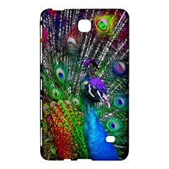 3d Peacock Pattern Samsung Galaxy Tab 4 (7 ) Hardshell Case  by Amaryn4rt