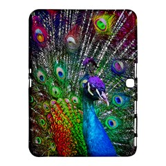 3d Peacock Pattern Samsung Galaxy Tab 4 (10 1 ) Hardshell Case  by Amaryn4rt