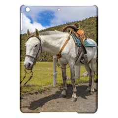 White Horse Tied Up At Cotopaxi National Park Ecuador Ipad Air Hardshell Cases by dflcprints