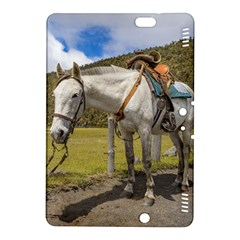 White Horse Tied Up At Cotopaxi National Park Ecuador Kindle Fire Hdx 8 9  Hardshell Case by dflcprints