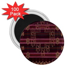 Ulos Suji Traditional Art Pattern 2 25  Magnets (100 Pack)