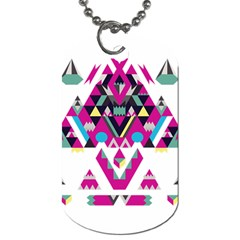 Geometric Play Dog Tag (one Side) by Amaryn4rt