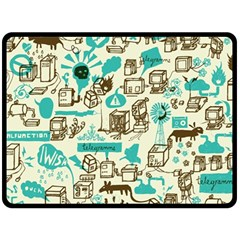 Telegramme Double Sided Fleece Blanket (large)