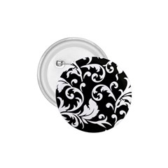 Vector Classical Traditional Black And White Floral Patterns 1 75  Buttons by Amaryn4rt