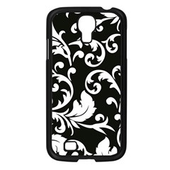 Vector Classical Traditional Black And White Floral Patterns Samsung Galaxy S4 I9500/ I9505 Case (black) by Amaryn4rt