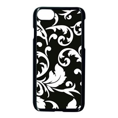 Vector Classical trAditional Black And White Floral Patterns Apple iPhone 7 Seamless Case (Black) by Amaryn4rt