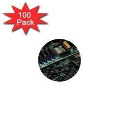 Computer Ram Tech 1  Mini Buttons (100 Pack)  by Amaryn4rt
