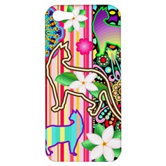 Mandalas, Cats And Flowers Fantasy Digital Patchwork Apple Iphone 5 Hardshell Case by BluedarkArt