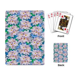 Plumeria Bouquet Exotic Summer Pattern  Playing Card by BluedarkArt