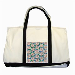 Plumeria Bouquet Exotic Summer Pattern  Two Tone Tote Bag by BluedarkArt