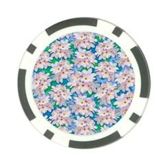 Plumeria Bouquet Exotic Summer Pattern  Poker Chip Card Guard by BluedarkArt