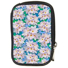 Plumeria Bouquet Exotic Summer Pattern  Compact Camera Cases by BluedarkArt