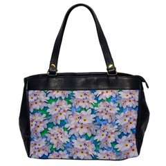 Plumeria Bouquet Exotic Summer Pattern  Office Handbags by BluedarkArt