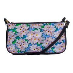 Plumeria Bouquet Exotic Summer Pattern  Shoulder Clutch Bags by BluedarkArt