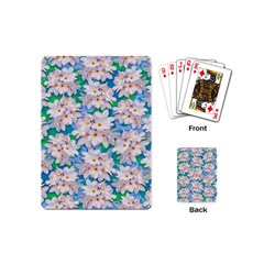 Plumeria Bouquet Exotic Summer Pattern  Playing Cards (mini)  by BluedarkArt