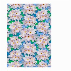 Plumeria Bouquet Exotic Summer Pattern  Small Garden Flag (two Sides) by BluedarkArt